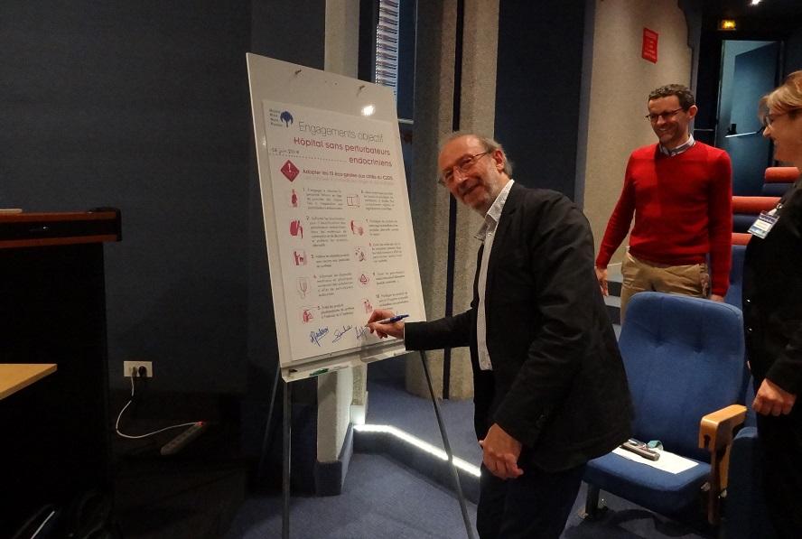 """Lancement de la campagne """"Hôpital sans Perturbateurs Endocriniens"""" à l'HPNP de Sarcelles"""