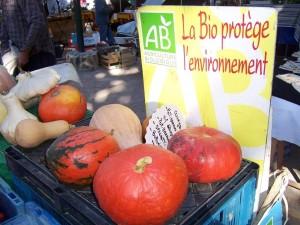 légumes bio marché
