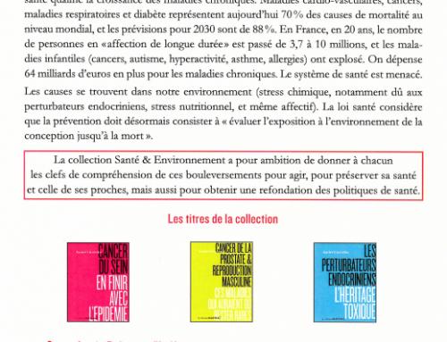 Collection Santé & Environnement, sous la direction d'André Cicolella