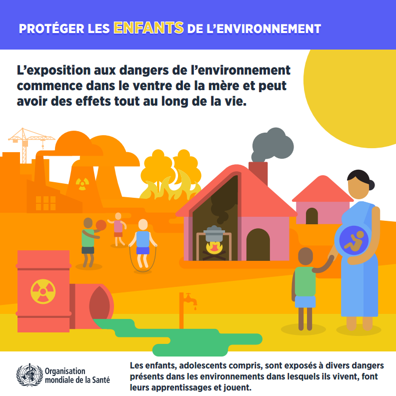 Rapport de l'OMS « Don't pollute my future ! The impact of the environment on children's health