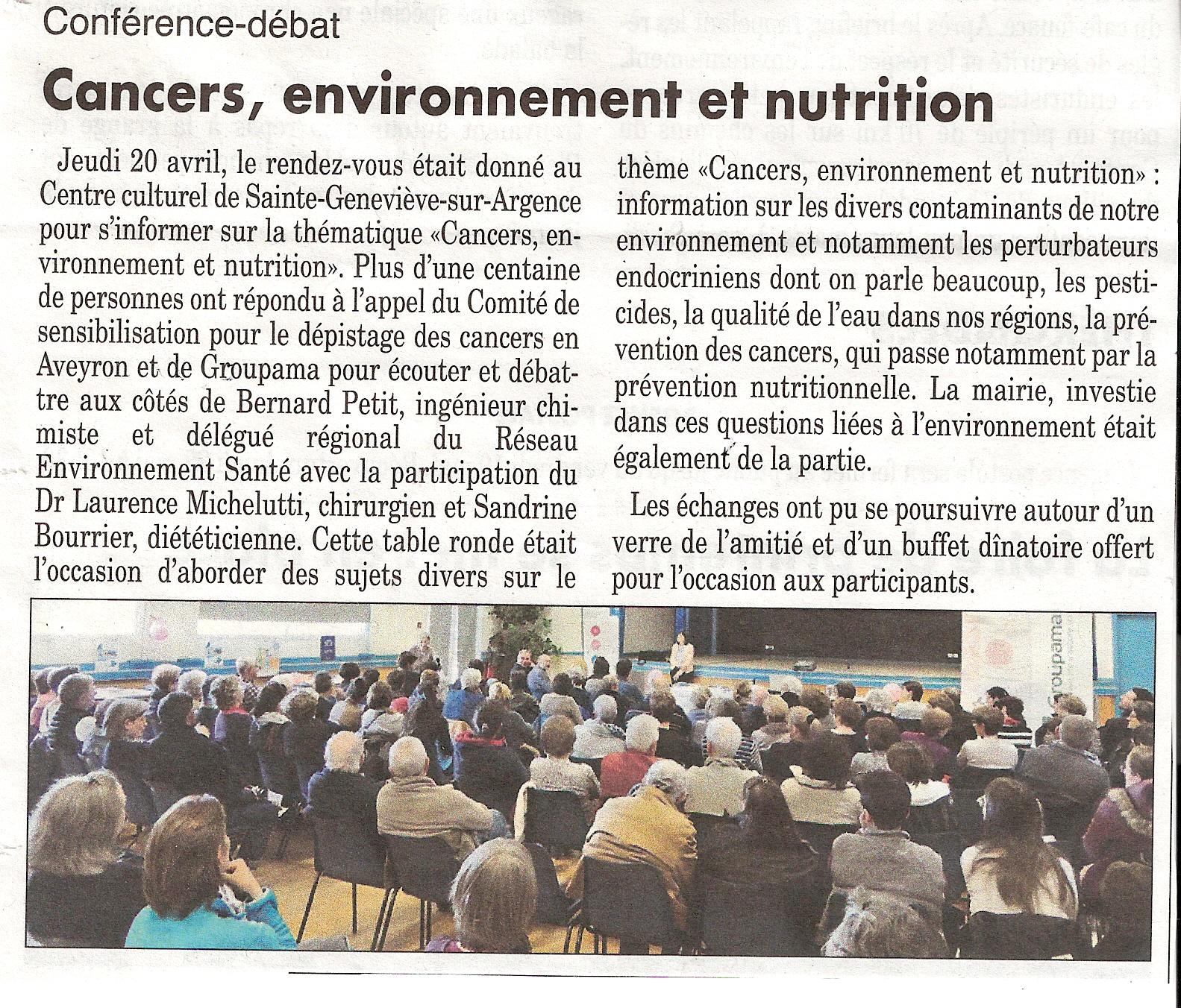 Cancers, environnement et nutrition