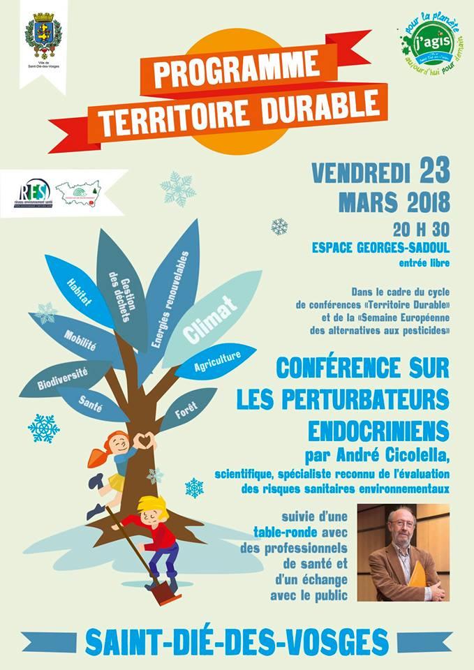 Conférence sur les perturbateurs endocriniens – le 23 mars à Saint-Dié des Vosges
